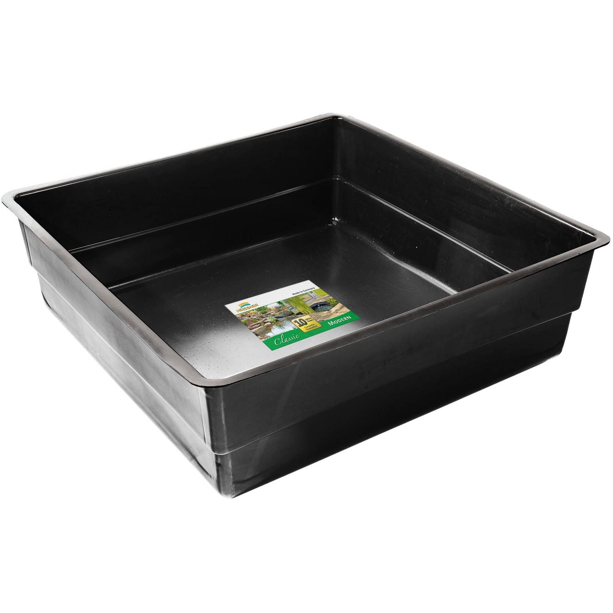 Heissner: Teichbecken eckig 150 x 150 x 45 cm | PE-Fertigteich für 900 Liter |