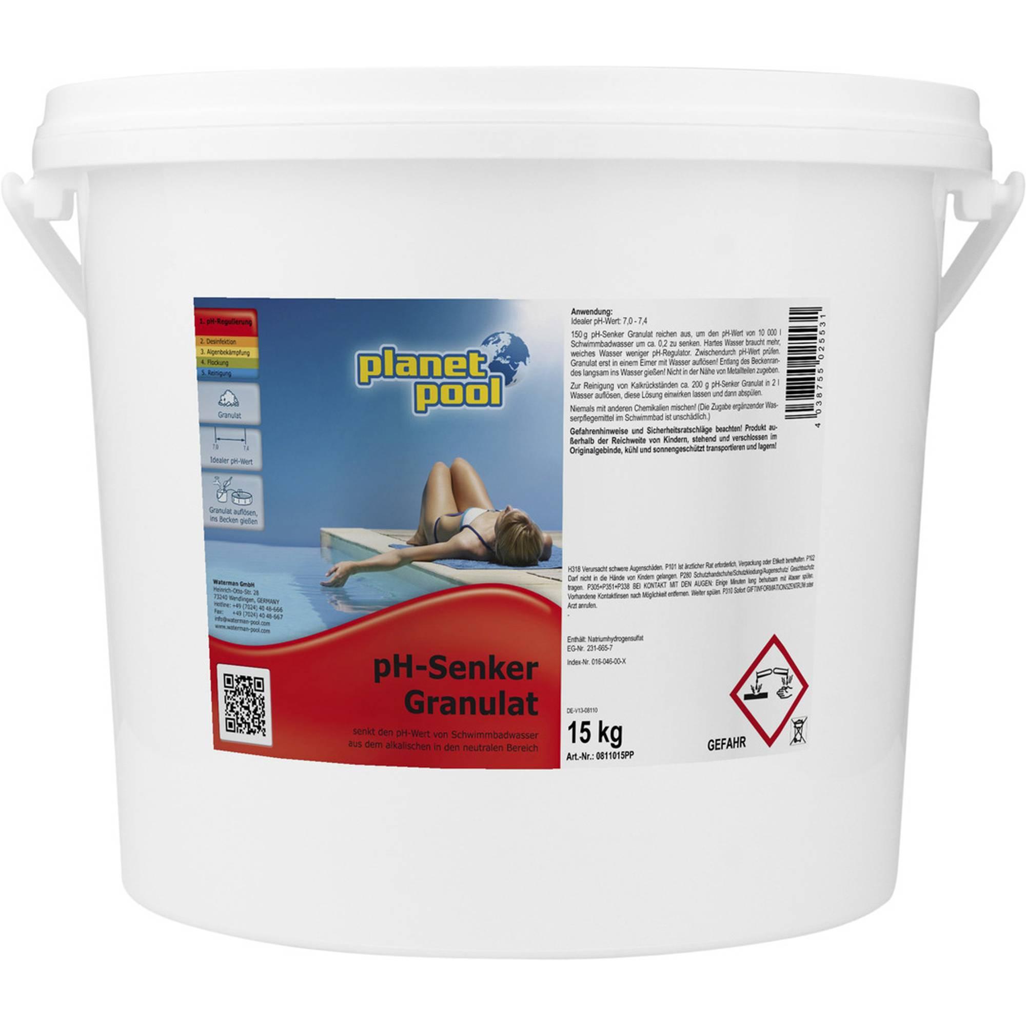 PLANET POOL pH-Senker Granulat 15 kg