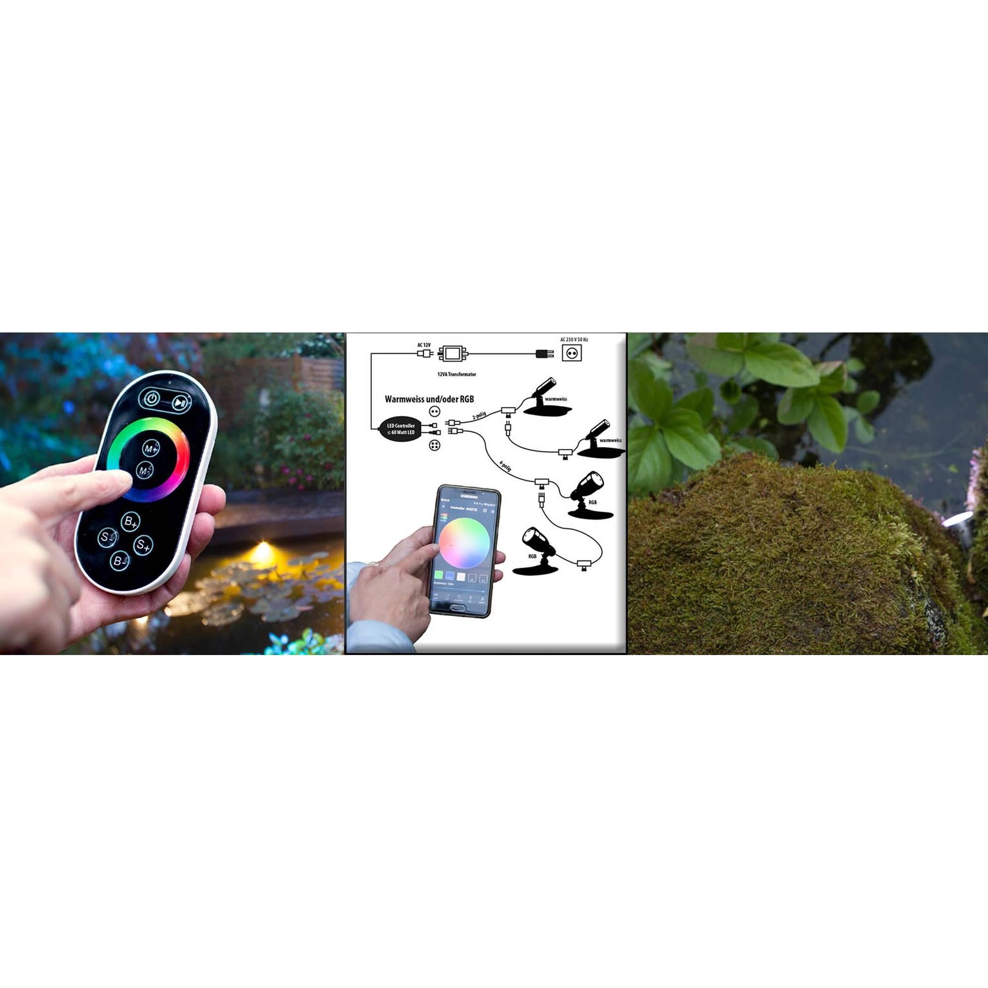 Heissner L433-00 LED Smart Light RGB Spot 3 Watt silber