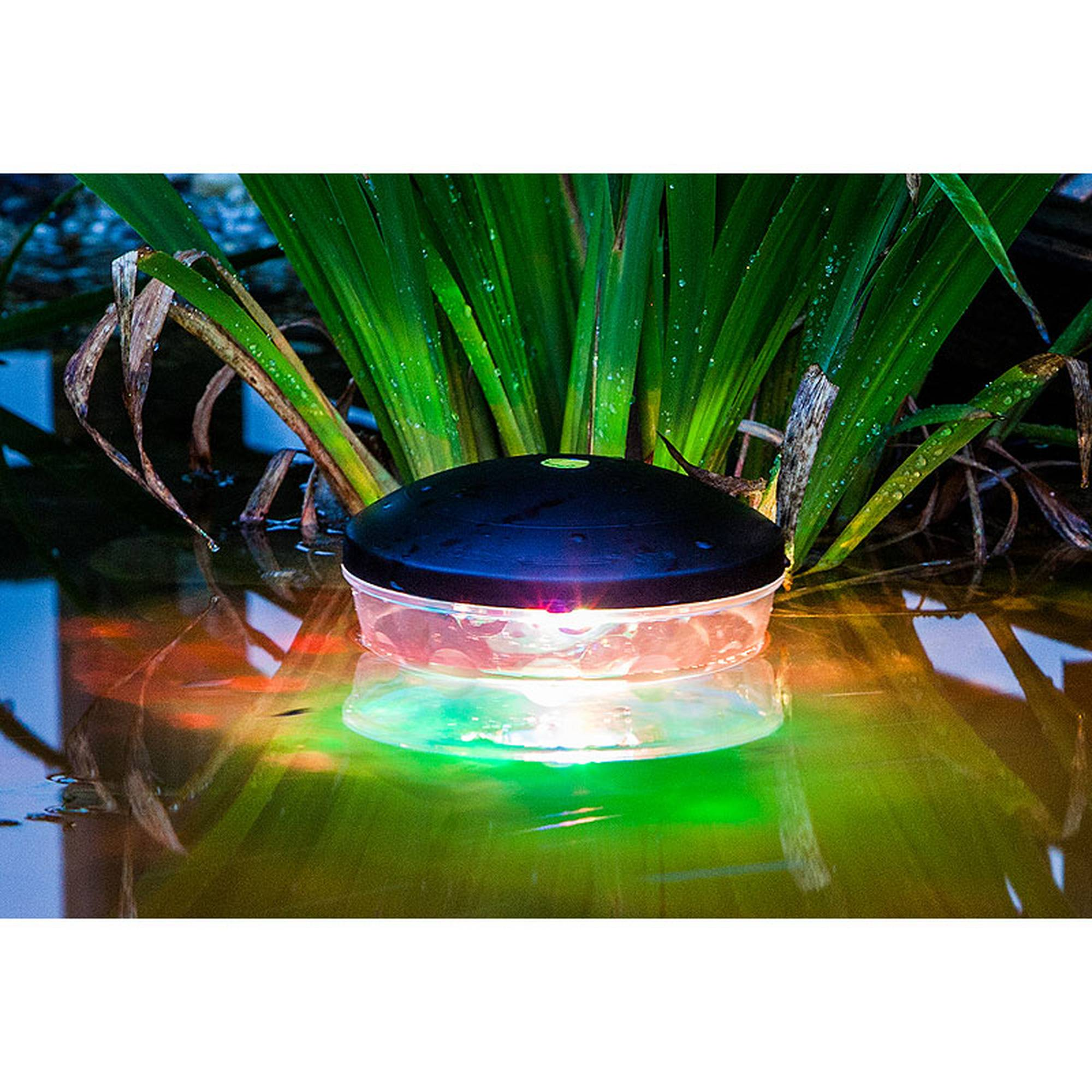 Schwimmende Unterwasserlichtshow, 4 LED's RGB