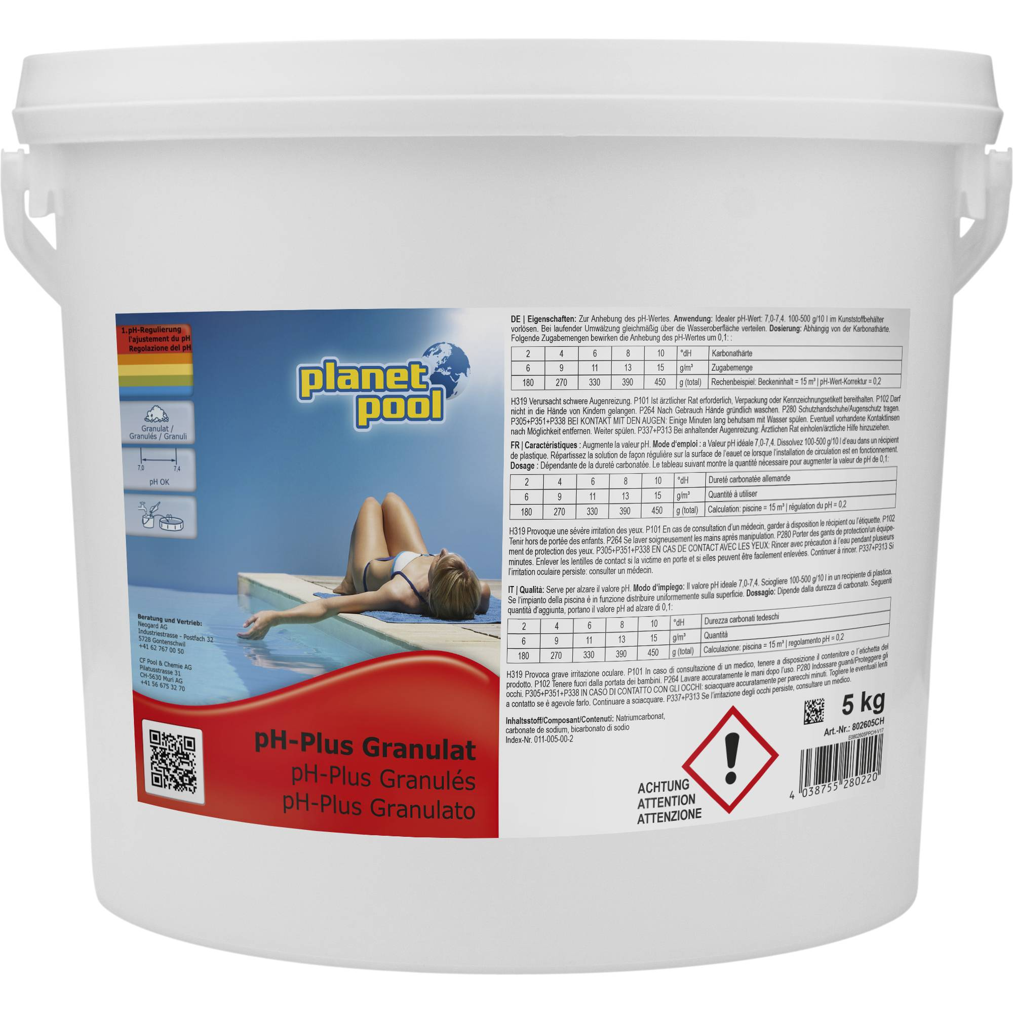PLANET POOL pH-plus Granulat 5 kg