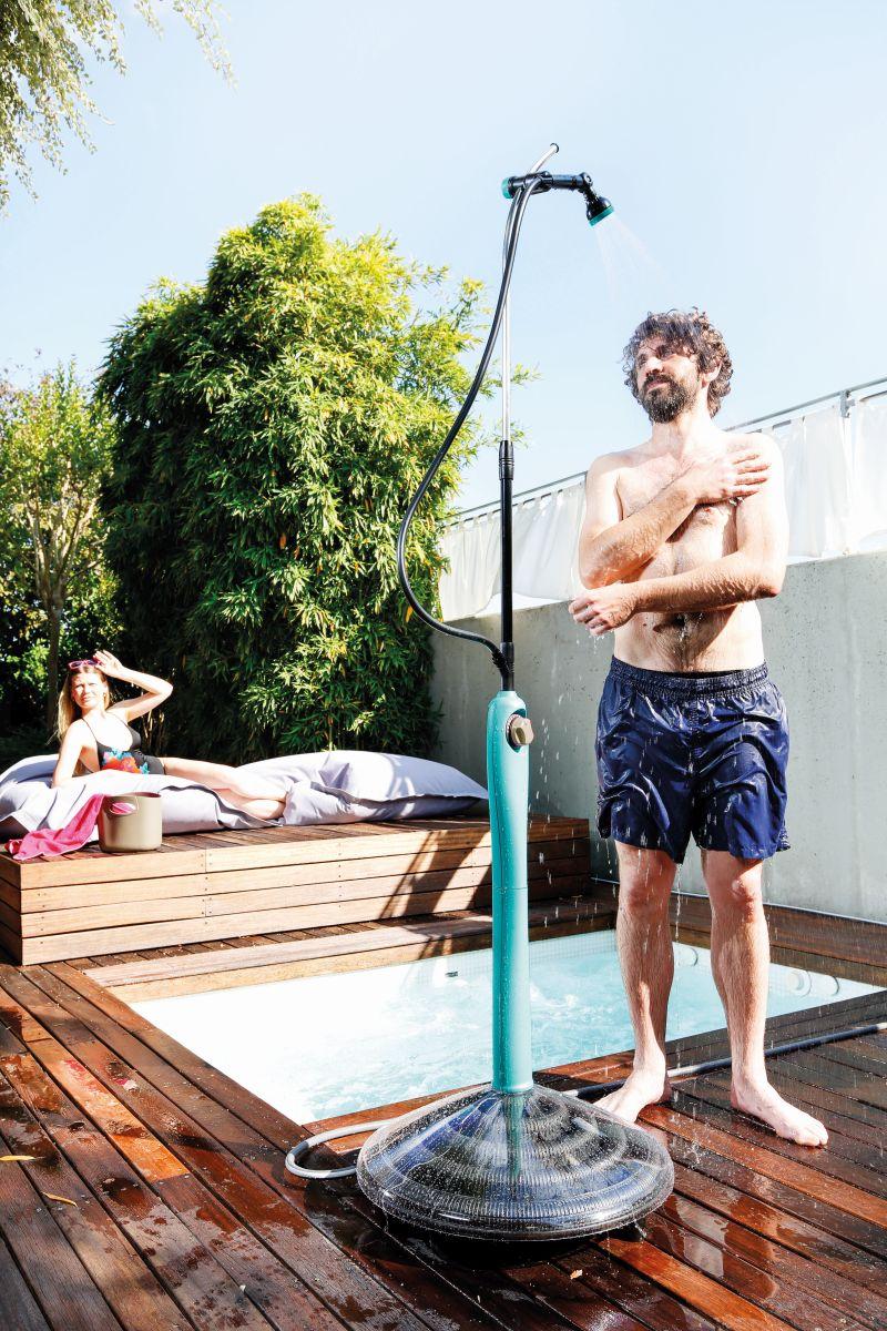 Dusche Sunny Style Premium 8l, Aquamarin