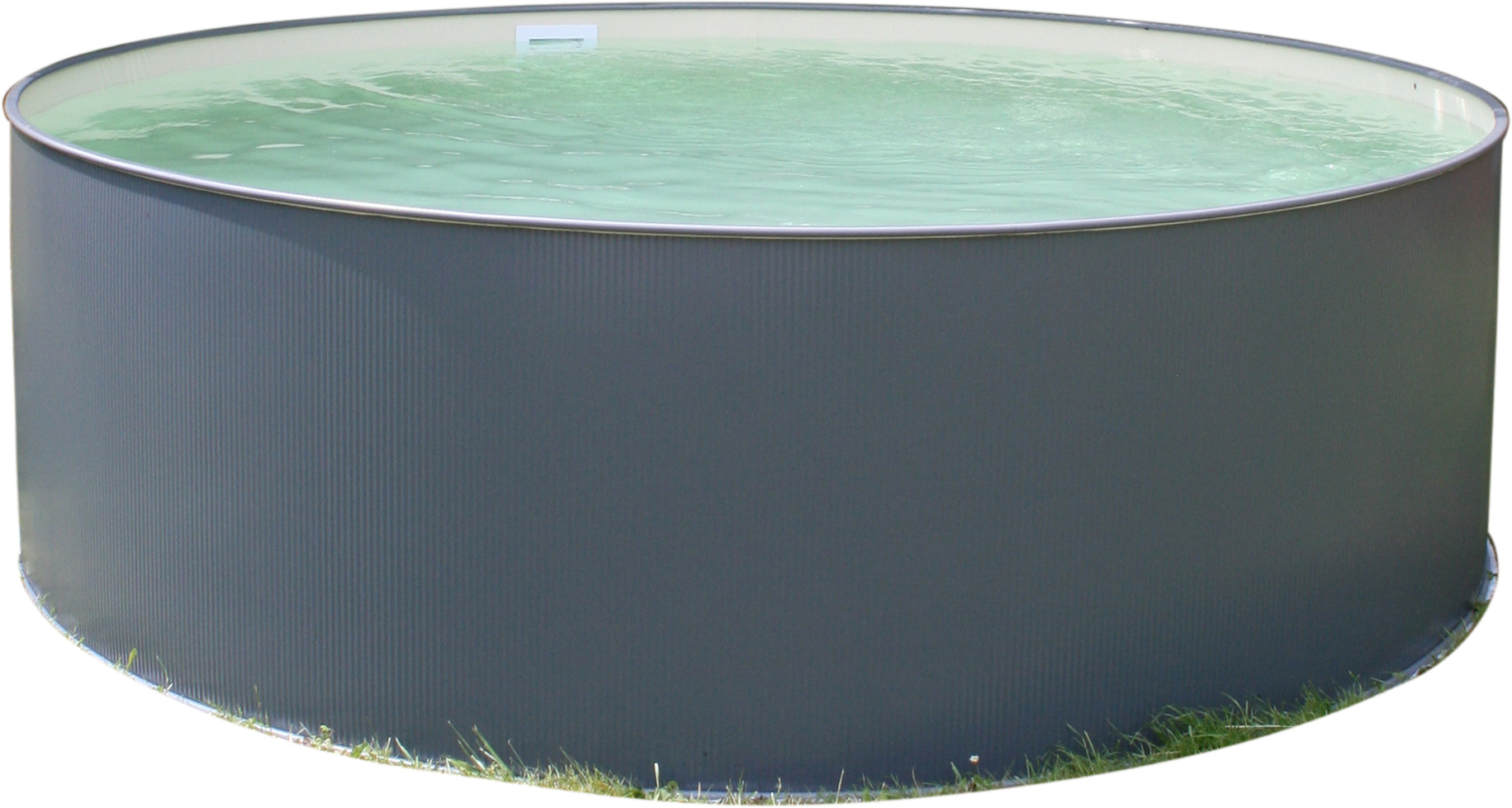 PLANET POOL Rundbecken-Set Anthrazit 350x90cm, 3 teilig