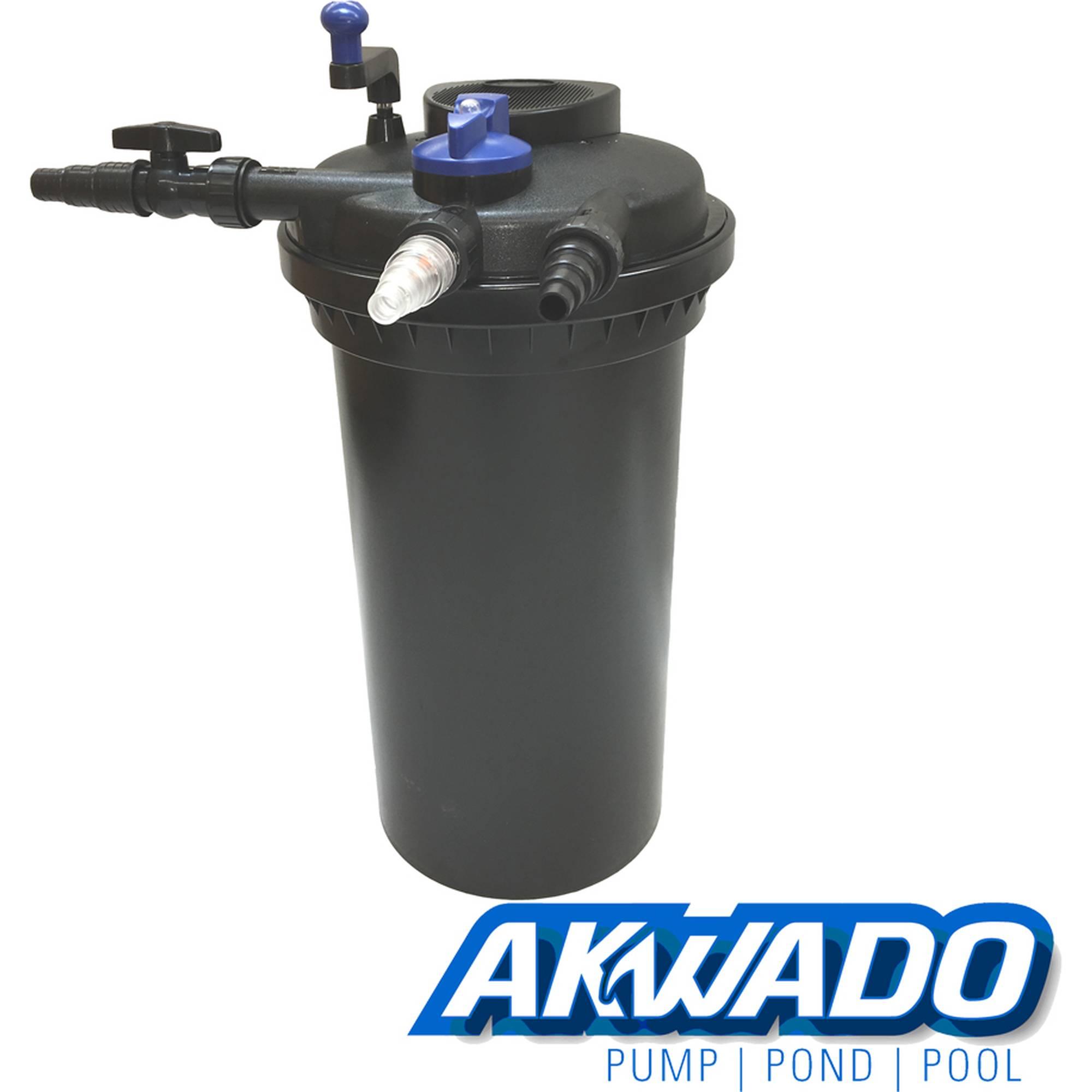 AKWADO Druckfilter CPF-15000 inkl. 18 Watt UVC Klärer für Teich Koi usw.