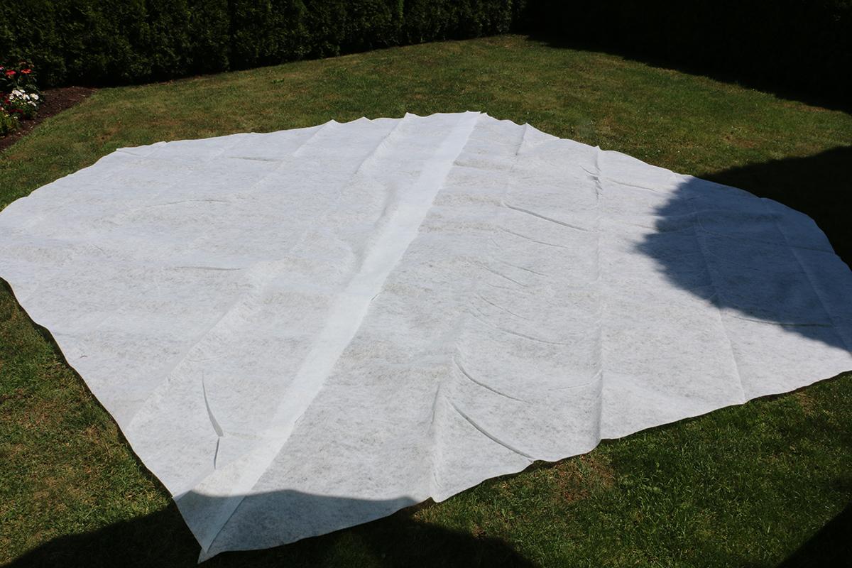 Extra Bodenschutzvlies für 600 x 320 cm Ovalform-Pools