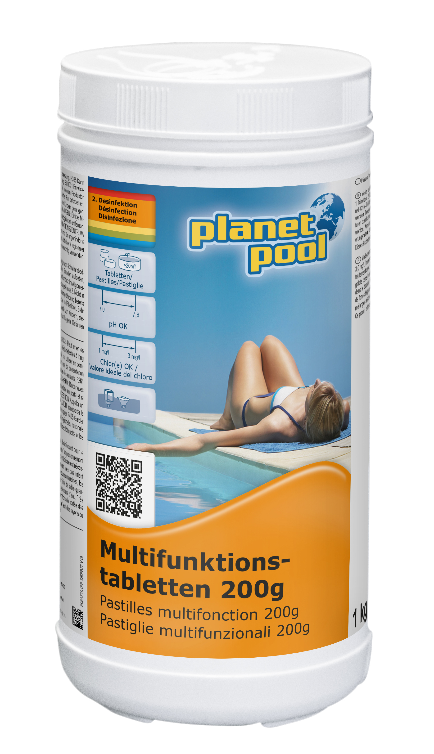 PLANET POOL Multifunktions-Tabletten 200g 1 kg