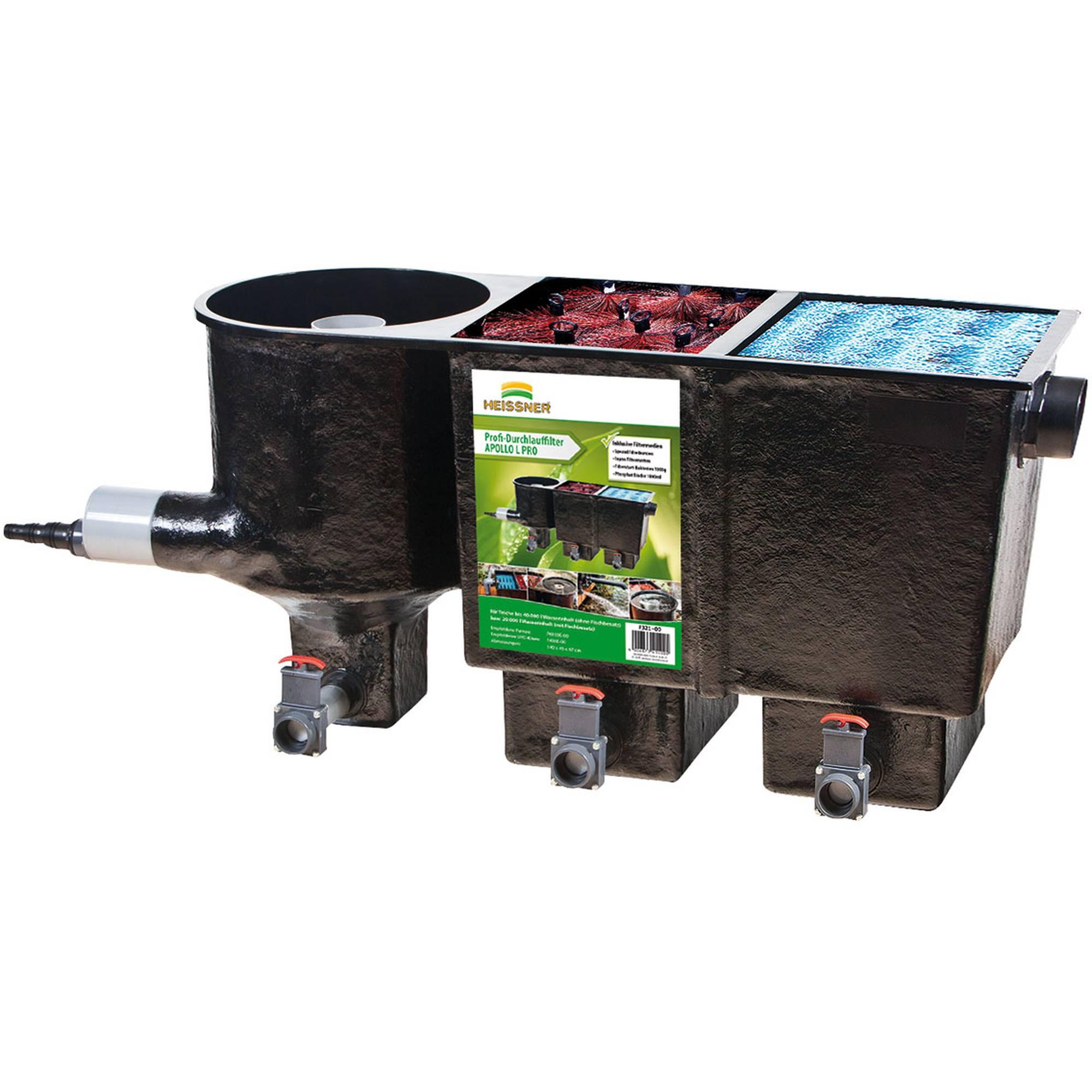 Teichfilter APOLLO L mit Vortex und 2 Filterkammern, bestückt