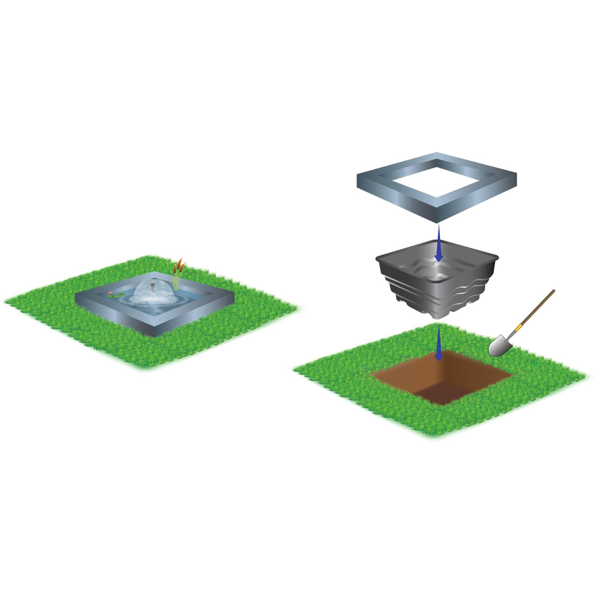 PE-Terrassen-Becken quadratisch 70 Liter von Heissner
