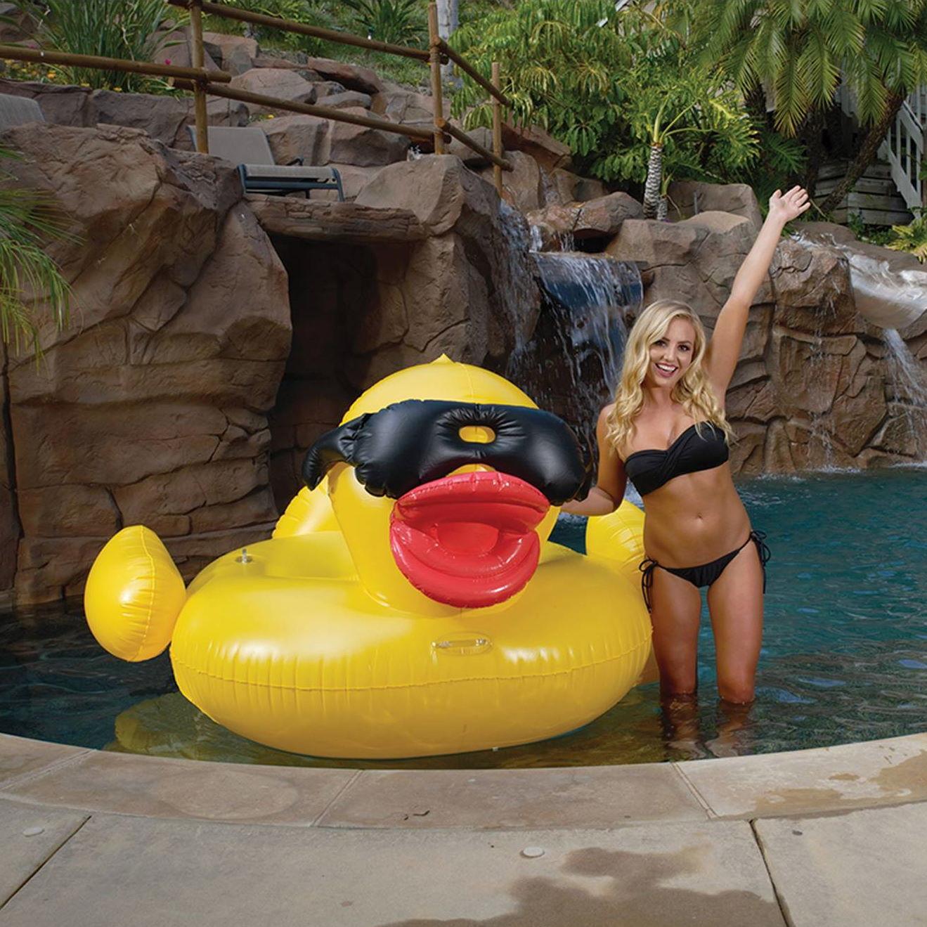 Game Derby Duck XXL riesen Schwimmente zum aufblasen