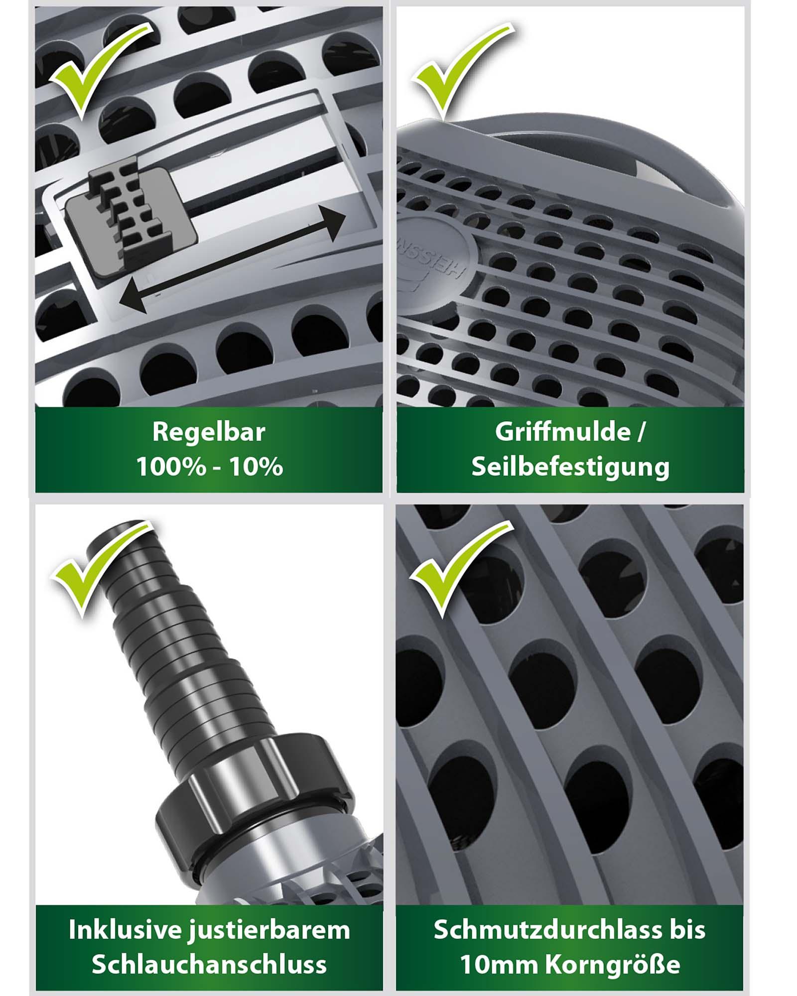 AQUA CRAFT ECO Filter- und Bachlaufpumpe 10000 l/h, 95W