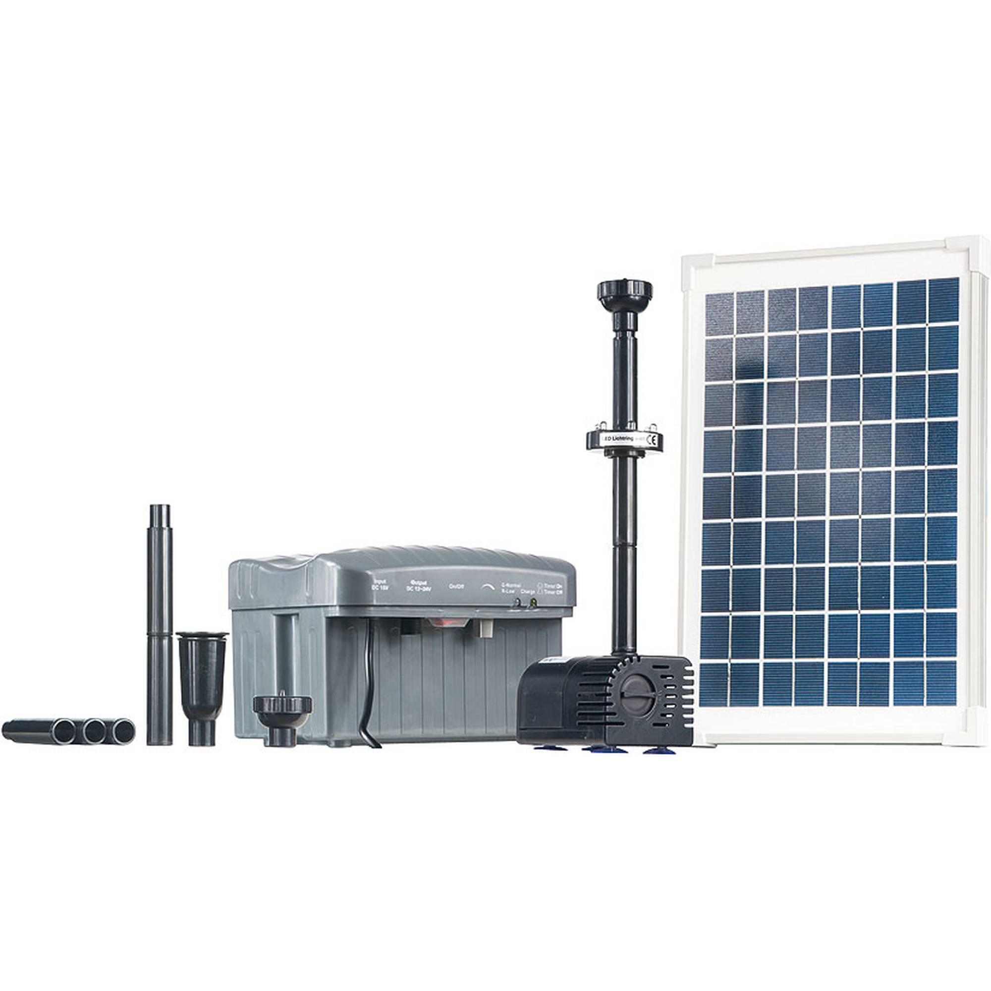 Solar-Teichpumpen-Set 750 l/h mit LED