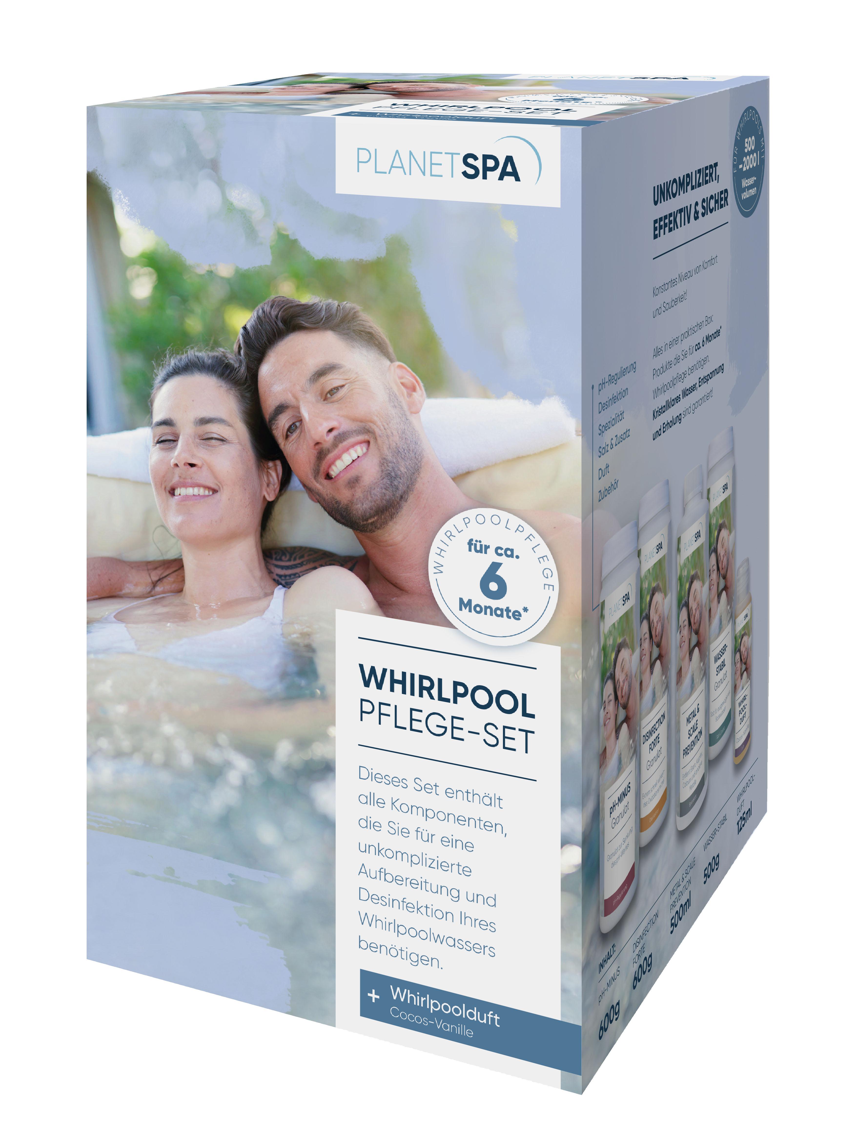 Planet Spa Whirlpoolpflege Komplett-Set, 7-teilig