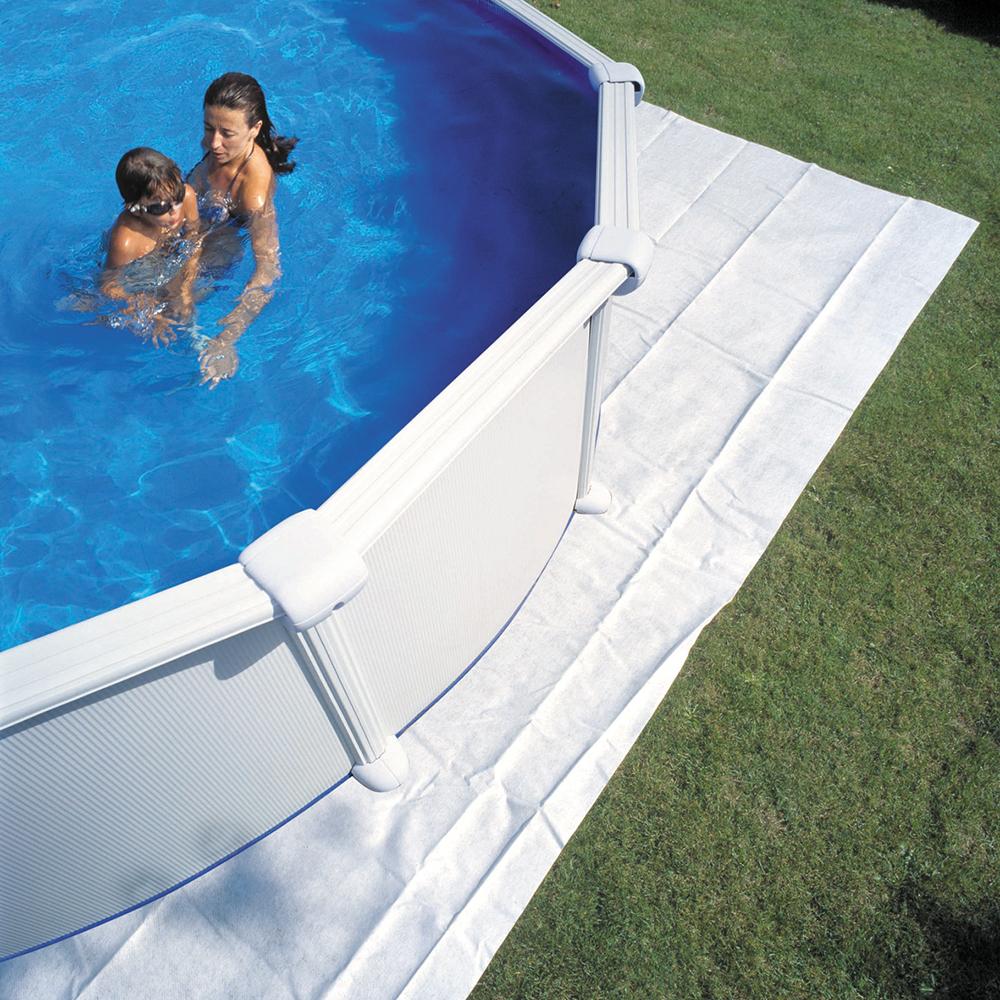 Extra Bodenschutzvlies für Oval/Achtformbecken 525 x 320 cm