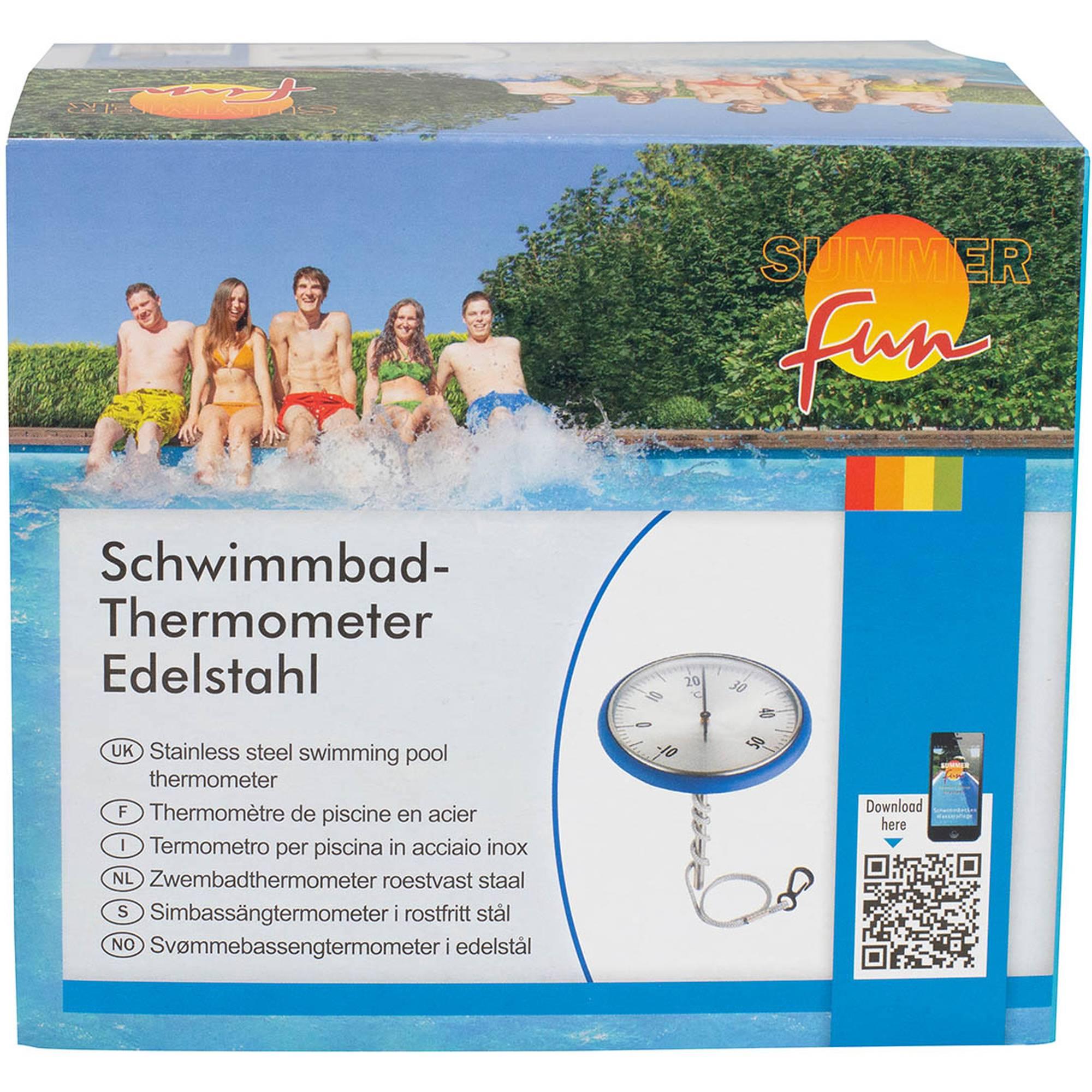 Schwimmthermometer Edelstahl