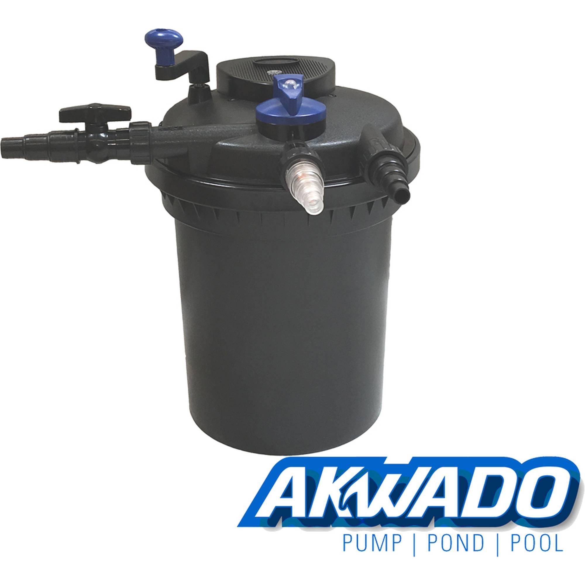 AKWADO Druckfilter CPF-10000 inkl. 11 Watt UVC Klärer für Teich Koi usw.