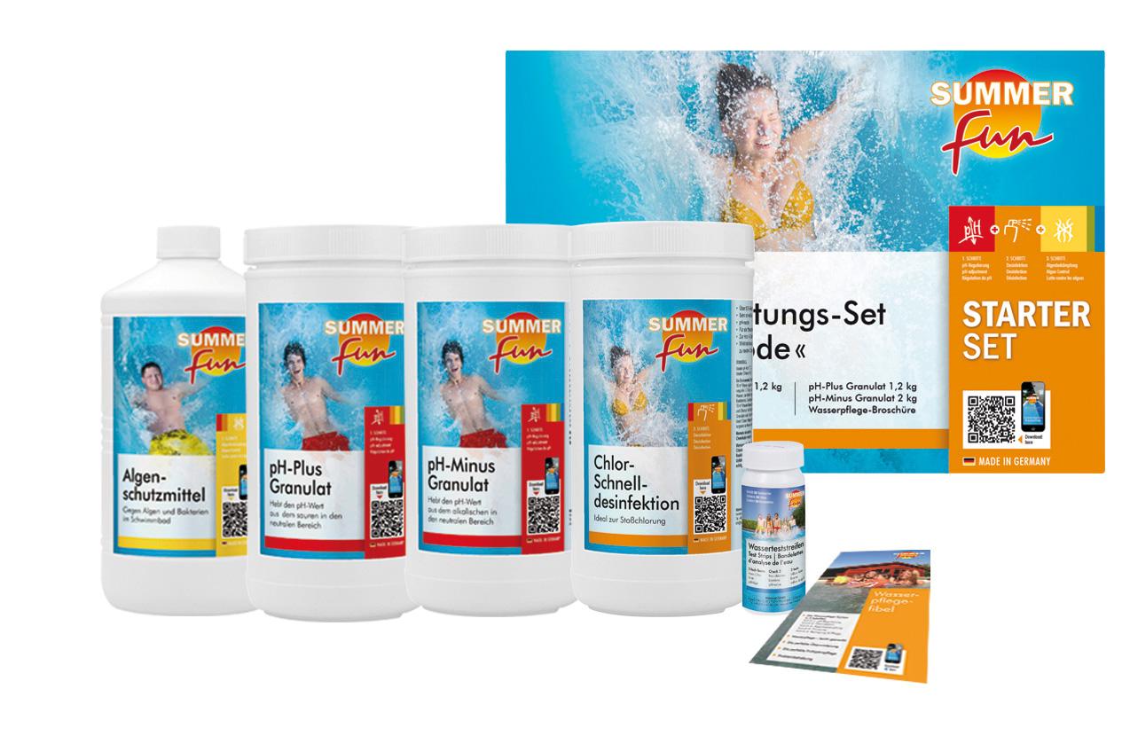 Wasserpflege-Grundausstattungsset Chlor/ Maxipack 5,4 kg