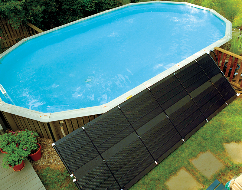 Solarkollektor 61x610 cm inkl. Verbindungsmuffen