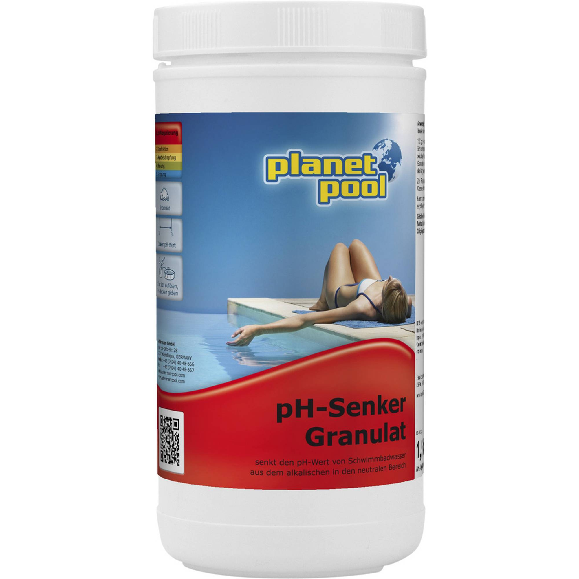 PLANET POOL pH-Senker Granulat 1,5 kg