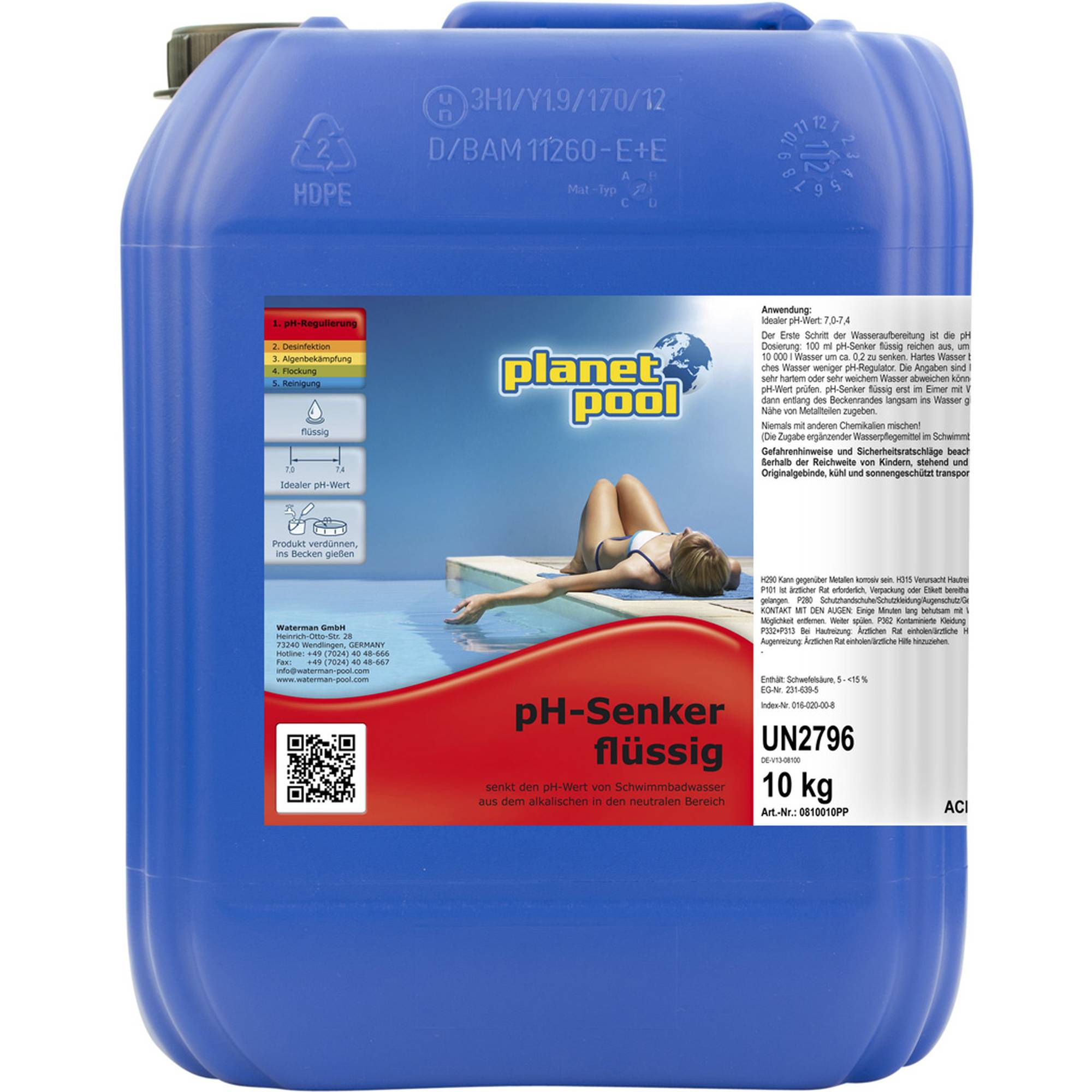 PLANET POOL pH-minus flüssig 10 kg