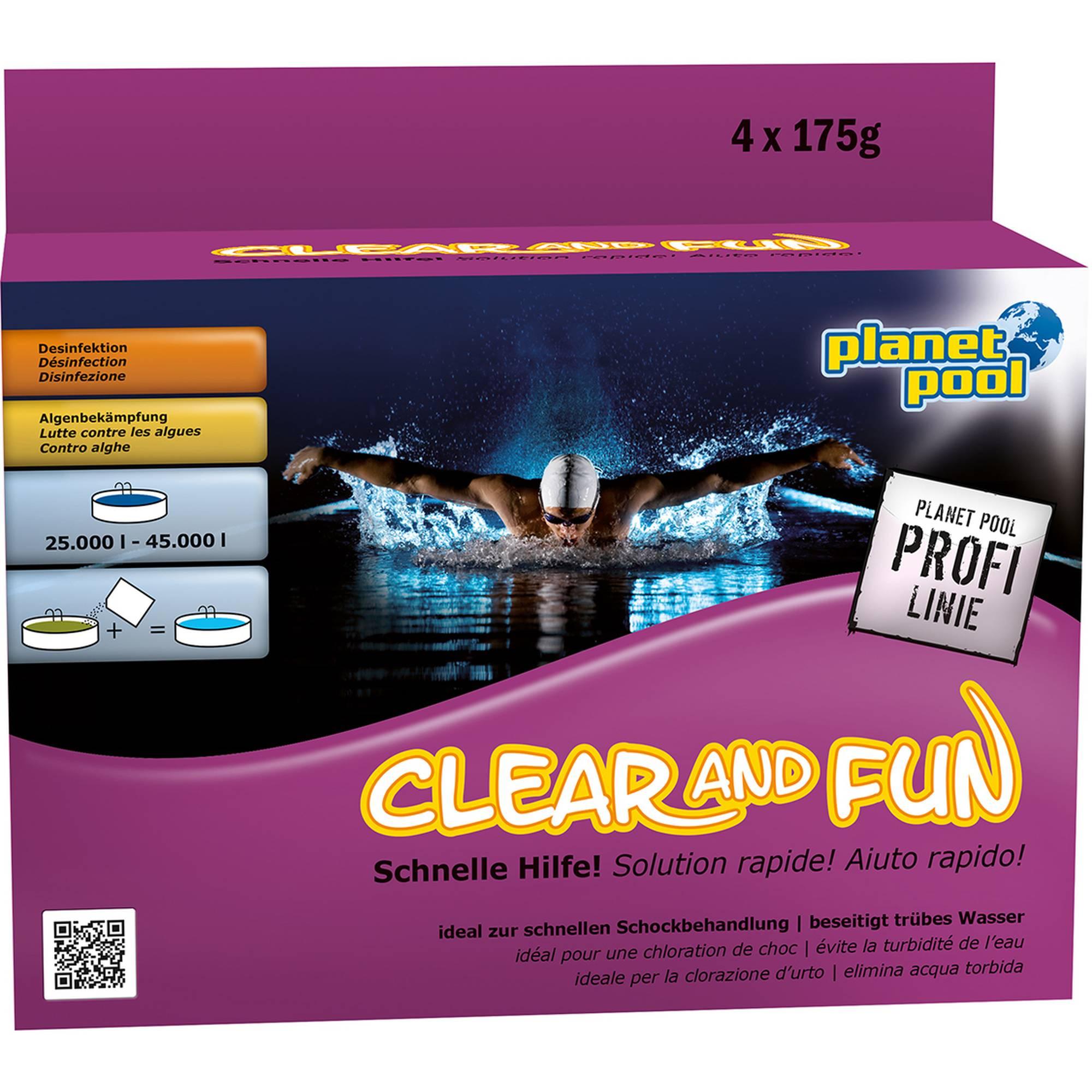 PLANET POOL - Profi Linie   Clear and Fun Big Wasserpflegeset