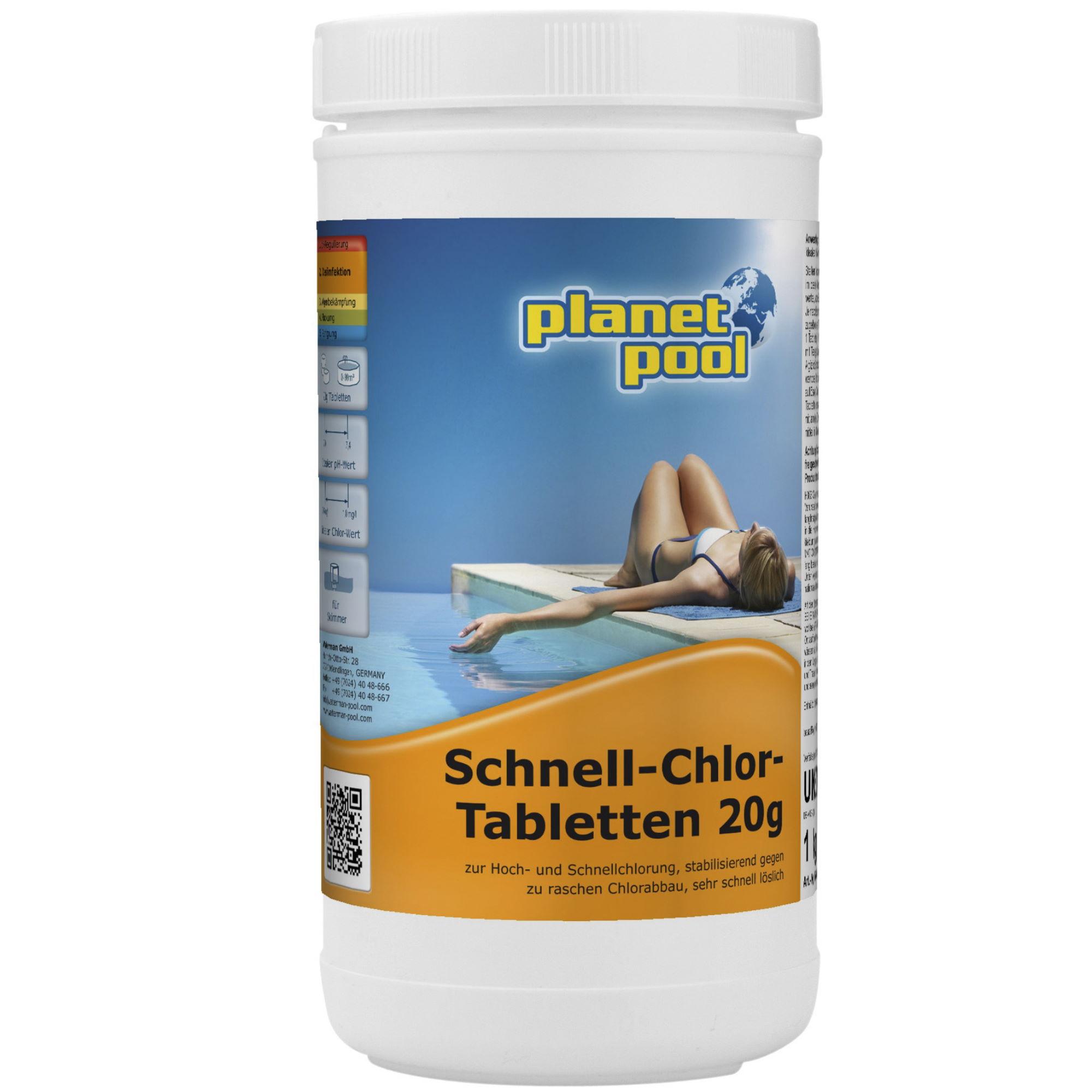 PLANET POOL Schnell-Chlor-Tabletten 20g 1kg