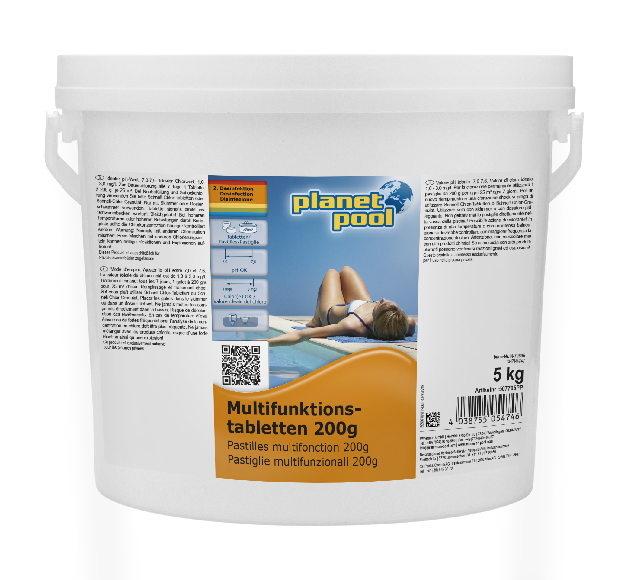 PLANET POOL Langzeit-Multifunktions-Tabletten 200 g, 5 kg