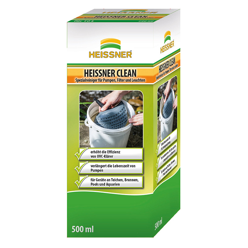 HEISSNER CLEAN Spezial-Reiniger 500ml, für Pumpen, Filter und Lampen