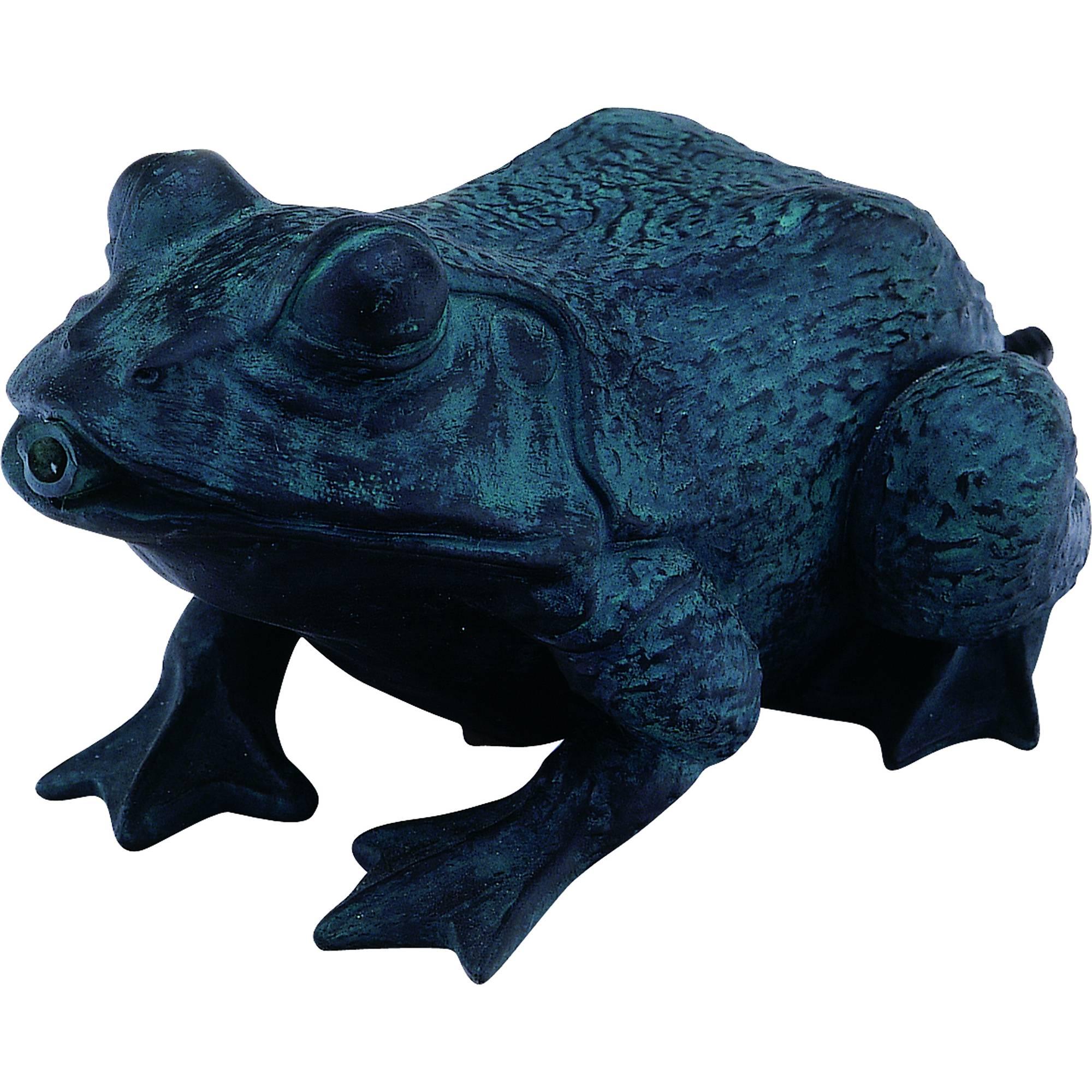 Wasserspeier in Form eines Frosches in Dunkelbronze